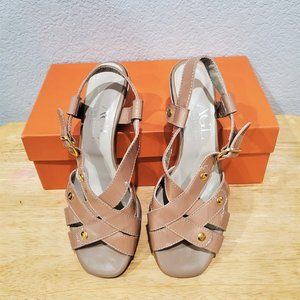 AGL Patent Leather sandals, new with box, 37 1/2